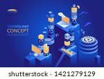technology isometric concept.... | Shutterstock .eps vector #1421279129
