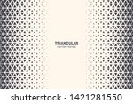 triangles vector abstract... | Shutterstock .eps vector #1421281550