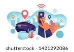 autonomous wireless remote...   Shutterstock .eps vector #1421292086