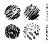 set of four sketch scribble... | Shutterstock .eps vector #1421317316
