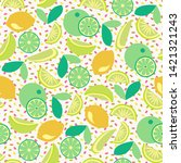 vector seamless pattern with... | Shutterstock .eps vector #1421321243