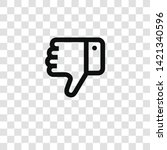 thumb down icon from... | Shutterstock .eps vector #1421340596