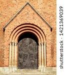 stunning front gate of roskilde ... | Shutterstock . vector #1421369039