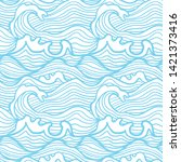 seamless pattern with stormy... | Shutterstock .eps vector #1421373416