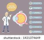 male doctor with tips for eye... | Shutterstock .eps vector #1421374649
