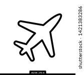 the best plane icon vector ... | Shutterstock .eps vector #1421383286