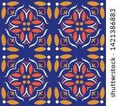 seamless moroccan ornament... | Shutterstock .eps vector #1421386883