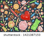 confectionery products ... | Shutterstock .eps vector #1421387153