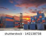 containers in the port of laem... | Shutterstock . vector #142138738
