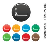 hand lift icons set 9 color... | Shutterstock .eps vector #1421392103