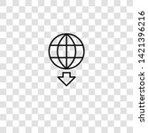 worldwide icon from  collection ... | Shutterstock .eps vector #1421396216