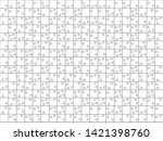 silhouette of jigsaw puzzles... | Shutterstock .eps vector #1421398760
