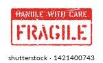 grunge vector rubber box sign.... | Shutterstock .eps vector #1421400743