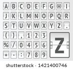 white terminal mechanical... | Shutterstock .eps vector #1421400746