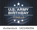 u.s. army birthday june 14.... | Shutterstock .eps vector #1421406506