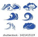 Set Of Sea Waves. Collection Of ...