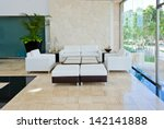 lounge area of a hotel  club ...   Shutterstock . vector #142141888