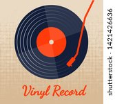 vinyl record music vector with...   Shutterstock .eps vector #1421426636