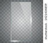 blank  transparent vector glass ... | Shutterstock .eps vector #1421434859
