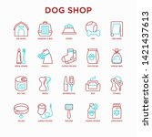 dog shop thin line icons set ... | Shutterstock .eps vector #1421437613