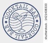 cocktail bar stamp. drinks... | Shutterstock .eps vector #1421438333