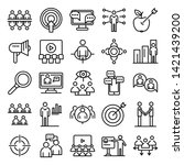 audience icons set. outline set ... | Shutterstock .eps vector #1421439200