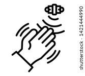 hand motion sensor icon.... | Shutterstock .eps vector #1421444990