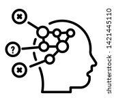 disease head diagram icon.... | Shutterstock .eps vector #1421445110