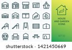 garden buildings icons set. set ... | Shutterstock .eps vector #1421450669