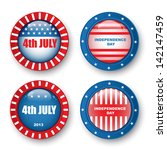 4th of july badges | Shutterstock .eps vector #142147459
