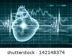 virtual image of human heart... | Shutterstock . vector #142148374