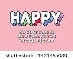 vector of stylized modern font... | Shutterstock .eps vector #1421495030