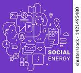 vector creative social...   Shutterstock .eps vector #1421495480