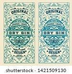 vintage label for liquor design | Shutterstock .eps vector #1421509130