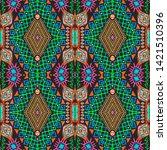aztec pattern. seamless african ...   Shutterstock . vector #1421510396