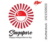 singapore independence day... | Shutterstock .eps vector #1421520023