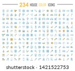 house color icons big set.... | Shutterstock .eps vector #1421522753