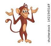 Cute Monkey Chimpanzee In Fun...