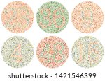 daltonism ishihara test red and ... | Shutterstock .eps vector #1421546399