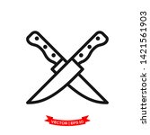 knife icon vector logo template ... | Shutterstock .eps vector #1421561903
