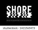 ripple style font design ... | Shutterstock .eps vector #1421565473