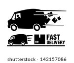 fast delivery   Shutterstock .eps vector #142157086