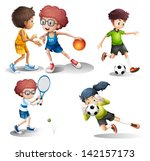 illustration of the kids... | Shutterstock . vector #142157173