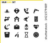 activity icons set with vinyl...