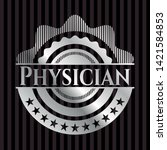 physician silvery badge. vector ...   Shutterstock .eps vector #1421584853