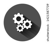 gear vector icon in flat style. ...