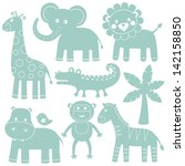 cartoon animals vector set | Shutterstock .eps vector #142158850