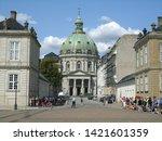frederik's church has the... | Shutterstock . vector #1421601359