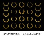 collection of different golden... | Shutterstock .eps vector #1421602346