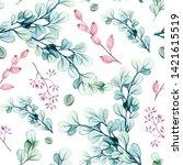 seamless pattern of watercolor... | Shutterstock . vector #1421615519